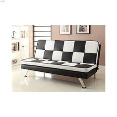 checkered sofa bed 300225 by coaster futons contemporary metal futon frame   coaster 300159   futons      rh   pinterest