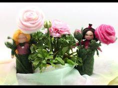 Felted flower Ranunculus - flower child / Filzanleitung - YouTube