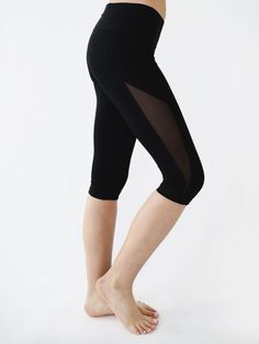 e35d4f49524352 Black Mesh Capri Shop these adorable and comfortable cropped leggings!  Designed by Domingo Zapata,