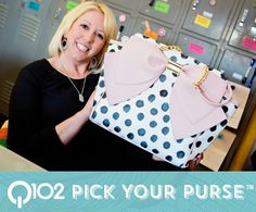 Betsey Johnson - Signature Bow Tote. Go to wkrq.com to find out how to play Q102's Pick Your Purse!