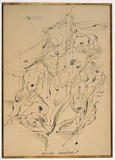 Drawing Surrealism. Andre Masson, Delire Vegetal (Vegetal Delirium), 1925, private collection, Paris, © 2012 Andre Masson Estate/ARS/ADAGP, Paris, photo © 2012 Museum Associates/LACMA