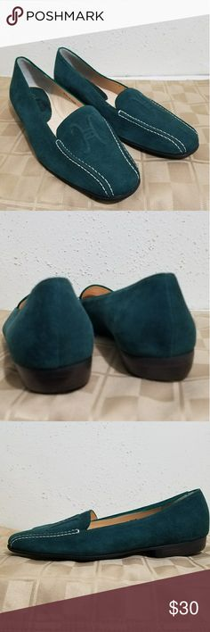 Cole Haan Suede Ballet Flats Size 5.5. Hunter green. Uppers are in excellent condition . Cole Haan Shoes Flats & Loafers