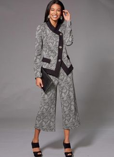 Kwik Sew K4221 Misses' Unlined Jacket and Pull-on Pants sewing pattern