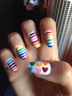 Arc en ciel 🌈 ongles nail art