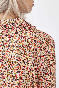 Ruffle Collar Ditsy Shirt - Topshop