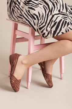 In pelle sandali sandali Sandali intrecciati di OliveThomasShoes