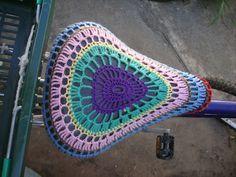 Recriando Artes manuais: Bicicleta - com crochê!