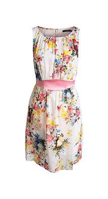 Fließendes Print Kleid aus Chiffon