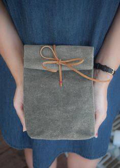 Canvas and Leather Lunch Bag (2 of 1)