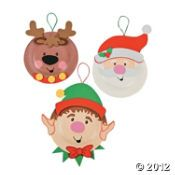 Paper Plate Holiday Characters Craft Kit  Use my own items, cotton balls for santa's beard!