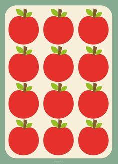 #Retro #Apple #poster 50x70 by Studio Stift from www.kidsdinge.com https://www.facebook.com/pages/kidsdingecom-Origineel-speelgoed-hebbedingen-voor-hippe-kids/160122710686387?sk=wall