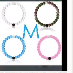 """4 color LOKAI BRACELET inM (7.5"""") color LOKAI BRACELET PRICE IS FIRM  !!!! LOKAI BRACELET contains the elements from the highest and lowest point on the Earth. The white ball with Lokai symbol contains water from Mt Everest, and the black ball holds mud from the LOKAI BRACELET in Dead Sea. These elements are constant reminders to live a balanced life with the white clear beads signifying a circular path of life's journey, and the highs and lows. Lokai Jewelry Bracelets"""
