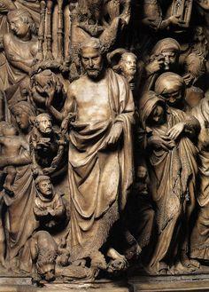 Nicola Pisano also called Niccolò Pisano, Nicola de Apulia or Nicola Pisanus; c. 1220/1225 – c. 1284 - detail of Christ from the pulpit of the  Siena Cathedral (1265-68)