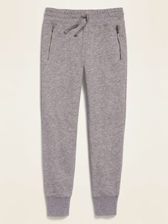 Cute Sweatpants, Sweatpants Outfit, Jogger Sweatpants, Joggers With Zippers, Girls Joggers, Trendy Hoodies, Old Navy Kids, Shop Old Navy, French Terry