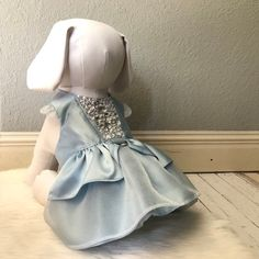 Cinderella blue dog wedding dress with crystals dog dress The Pug, Dog Wedding Dress, Blue Wedding Dresses, Bella Dresses, Dog Dresses, Cinderella Dresses, Skirt Patterns Sewing, Puppy Clothes, Pet Fashion
