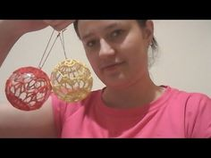 🎄 Bombka Na Szydełku 2017 - Crochet ball for Christmas Decoration tree Crochet Ball, Crochet Videos, Craft Tutorials, Crocheting, Crafts For Kids, Christmas Decorations, Crafty, Group, Pendant