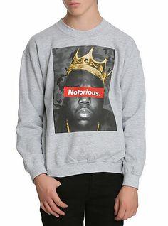 The Notorious B.I.G. Crown Crewneck Sweatshirt   Hot Topic