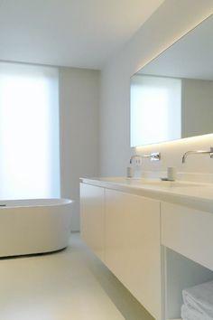 Bij Caroline en Pieter hebben we de volledige badkamer uitgevoerd in ...