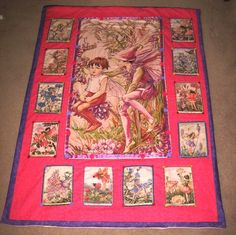Little girl's flower fairy quilt. $60.00, via Etsy.