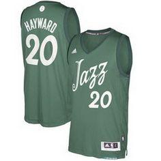 NBA Utah Jazz Gordon  20 Hayward Green 2016-2017 Christmas Day Swingman  Jersey 851219d19