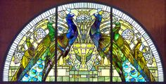 Stained glass from Casina delle Civette (House of the Owls) , Rome