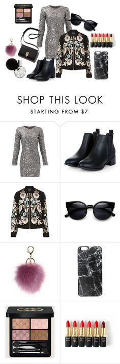 """A little glitter never killed nobody"" by dinasaurrr on Polyvore featuring Slate & Willow, Needle & Thread, Casetify, Gucci, L'Oréal Paris, women's clothing, women, female, woman and misses"