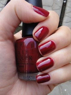 My new favorite color - OPI in Malaga Wine