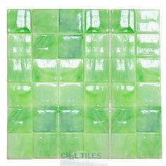 Diamond Tech Tiles | DT-T110-2 | Celery | Tile > Glass Tile