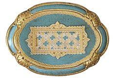 Robin's Egg Blue Florentine Tray on OneKingsLane.com  SOLD today on OKL!!!