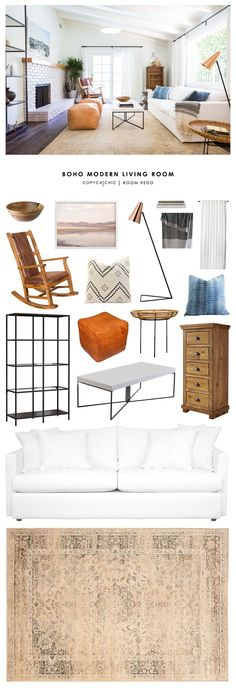 Copy Cat Chic Room Redo Boho Modern Living Room Copy Cat Chic
