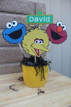 Sesame Street Centerpiece/Elmo/Cookie by CraftsbyHeatherDyan