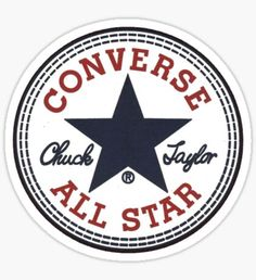"""The Converse All Star logo. """"Converse All Star"""" Tumblr Stickers, Cool Stickers, Printable Stickers, Laptop Stickers, Preppy Stickers, Brand Stickers, Converse Logo, Converse All Star, Converse Shoes"""