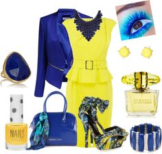 """""""Yellow and blue,created for you!"""" by crissflavya ❤ liked on Polyvore"""