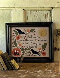 All for Fall Whimsical Wool Projects and Warm Quilts 2019 Halloween The post All for Fall Whimsical Wool Projects and Warm Quilts 2019 appeared first on Wool Diy. Halloween Cross Stitches, Halloween Quilts, Halloween Cards, Fall Halloween, Halloween Decorations, Halloween Poems, Felt Crafts, Fabric Crafts, Paper Crafts