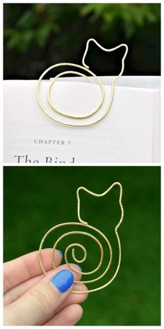 DIYChristmasCrafts: DIY Gifts by truebluemeandyou • DIY Cat Bookmark Tutorial from One Artsy...