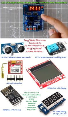 Please read the article by clicking link. We have listed basic electronic components with which you can create useful Arduino projects. Illustration not listed those things like DC motor, Servo motor.