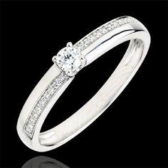 acheter en ligne Bague Solitaire Merveille - diamant 0.1 carats