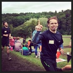 """He really does love to run. 