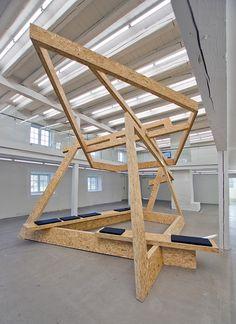Marius Dahl and Jan Christensen, Time as Matter, 2014 Plywood and pillows H: 436 cm, L: 754 cm, W: 461 cm Installation view: Viborg Kunsthal, #Viborg, Denmark #viborgkunsthal