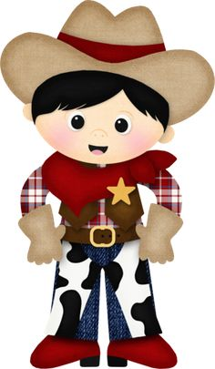 Picture of a cute cowgirl Cowboy Birthday Party, Cowgirl Party, Cowboy Love, Cowboy And Cowgirl, Cowboy Quilt, Clipart Boy, Sheep Pig, Westerns, Barn Parties