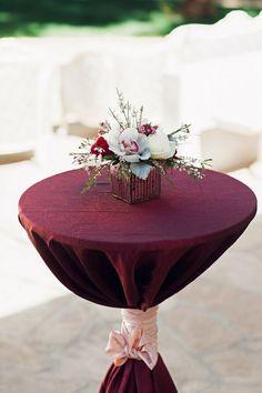 Lush Burgundy Hued Wedding Inspiration at The Landmark Photographer: Ivonne Carlton Photography