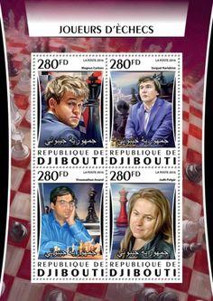 DJB16315a Chess players (Magnus Carlsen; Sergey Karyakin; Viswanathan Anand; Judit Polgar) Magnus Carlsen, Chess Players, Stamps, Baseball Cards, Seals, Stamping, Postage Stamps, Stamp
