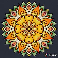 Mandala Art Lesson, Mandala Painting, Mandala Drawing, Dot Painting, Mandala Design, Mandala Pattern, Wal Art, Sharpie Art, Motif Floral