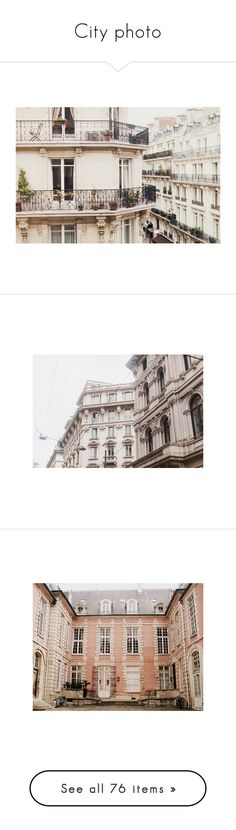 """City photo"" by erihiro ❤ liked on Polyvore featuring backgrounds, pictures, photos, pics, paris, images, pink, chanel, photography and places"