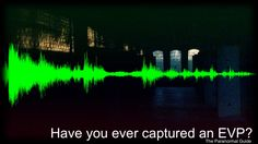 Have you ever captured an EVP?  Electronic Voice Phenomenon, EVP (as it will be referred to from now) is the label given to voices and sounds caught on ( mostly electronic ) recording mediums. These voices are said to be communication from ghosts, spirits and other entities, some of which do not have an earthly origin.  Read more about this and leave your response here: http://www.theparanormalguide.com/blog/have-you-ever-captured-an-evp