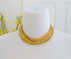 Neiman Marcus Gold Tone Snake Link Chain Choker by Jubileehappy, $99.99