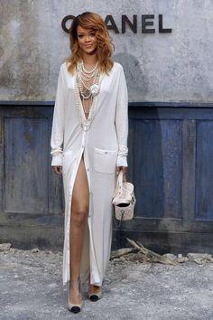#Rihanna em desfile da #Chanel