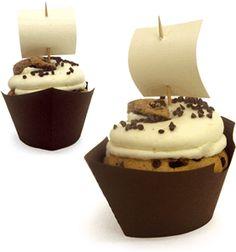 Super idea!! Silhouette Online Store: ship cupcake wrapper set