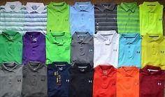 Men's Under Armour Loose Fit Heat Gear Golf Polo Shirt