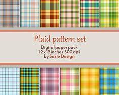 Digital Plaid Paper for Scrapbooking File Image, Digital Scrapbook Paper, Craft Business, Digital Pattern, Plaid Pattern, Abstract Pattern, Digital Prints, Printer, Clip Art